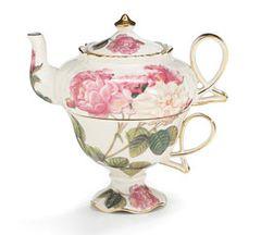 TEA FOR ONE ROSES TEAPOT