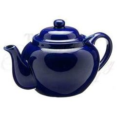 ROYAL BLUE 3 CUP DOMINION TEAPOT W/ INFUSER
