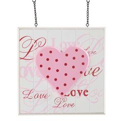 White Bead Board Love with Pink Heart