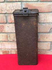 German Army issue coffee tin with markings in relic condition recovered from Death Valley near Hill 112 the battle in the Falaise Pocket on the Normandy battlefield of 1944