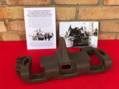 Very rare find Battle damaged German winterkette track link type 6 [B] 1943 pattern made for the Nashorn tank destroyer recovered from the Kurland Pocket 1944-1945 battle in Latvia