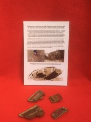 Group of buckles,clips+leather from inside the Tank recovered from British Mark 5 Tank destroyed during the Battle of Le Hamel on the 4th July 1918,Australian and American offensive on the Somme battle