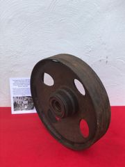 Track wheel nice condition relic from German sdkfz 3 Maultier half track recovered from near Rochefort which was a village attacked by the Panzer Lehr division on the 23rd December 1944 during the battle of the bulge
