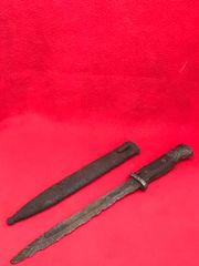 German soldiers K98 rifle bayonet in its scabbard recovered from the area of the Gothic Line near Bologna in Italy 1944-1945 battlefield
