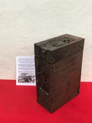 German 20mm Flak 30/38 Anti-aircraft gun magazine box which is very nice condition relic,waffen stamped recovered from a Lake South of Berlin in the area the 9th Army fought,surrendered in April 1945 in battle of Berlin