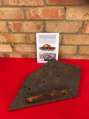 10mm armour plate from the rear upper hull with sand beige paintwork from German Panzer 38t recovered from the battle of kiev in 1941 in Ukraine