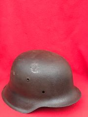 German soldiers M42 helmet nice solid relic very well cleaned recovered from Monte Cassino Italian battlefield of 1944 from a local museum which closed down in 2015