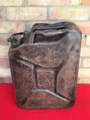 German Fuel can the famous Jerry can dated 1942 with battle damage recovered in 2017 from the Demyansk Pocket in Russia 1941-1942 battlefield