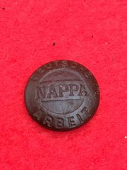 German maker marked button from soldiers ski cap in very nice condition rare type recovered from Death Valley near Hill 112 the battle in the Falaise Pocket on the Normandy battlefield of 1944