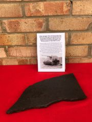 Blast damaged 15 mm armoured plate from the front of the open top superstructure for German Nashorn tank destroyer recovered from the Kurland Pocket 1944-1945 battle in Latvia