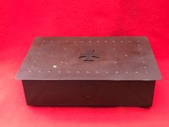 German soldiers cigarette tin with iron cross on the lid very nice condition from a private collection on the Somme battlefield 1916-1918