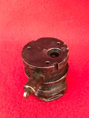 German brass fuse for Tellermine 35 with dust cover attached recovered from Normandy battlefield of the summer of 1944