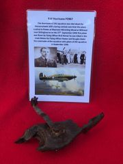 Rare Pilots seat back rest adjuster from the cockpit of RAF Hurricane P2967 shot down on the 27th September 1940 crashed at Milstead in Kent
