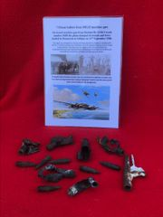 Group of 7.92mm bullets all burnt from on board MG15 machine gun from Heinkel HE 111 bomber number 5680 shot down on the 11th September 1940,crashed at Burmarsh
