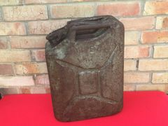 British fuel can dated 1944 with Green camouflage paintwork,nice condition found in Antwerp used as supply's to the Port for the Allied advance in to Germany in 1944-1945