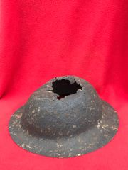 British soldiers 1st pattern brodie helmet,relic condition,nicely cleaned recovered in 2013 from a British first aid station in Aveluy woods rear area of July 1916 Somme battlefield