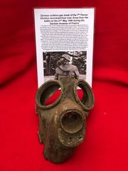 German soldier of the 7th Panzer Division rubber gas mask recovered in 2016 from the battlefield near Arras fought on 21st May 1940 during the German invasion