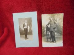 Original ww1 pair of photos for French soldier