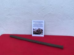 Track link pin well used example from Russian IS-2 Josef Stalin tank recovered from The Zeelow Heights near Berlin from the April 1945 battle