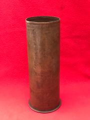 German 77mm shell case,very nice condition,shiny brass dated 1915 found on the Somme battlefield