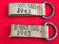 Pair of German webbing clips very nice condition dated 1943 found on a local fair on the Somme battlefield of world war 1
