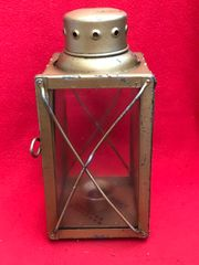 German Luftwaffe candle lamp dated 1941,nice condition with post war over paint for display found on brocante or fair in Brussels