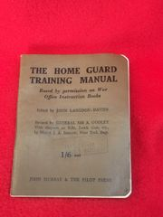 Original British Home guard training manual complete nice condition for Hailsham the 20th Sussex Battalion