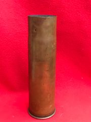 Rare Belgium 57mm brass shell case used in fortress emplacements captured by the Germans and used on there AV-7 Tanks found on the Somme battlefield