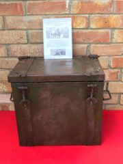 German metal carry case for cooking stove or Boiler dated 1943,very nice condition used by the German Gebirgsjager found in the Vosges Mountains the 1944-1945 battle in France