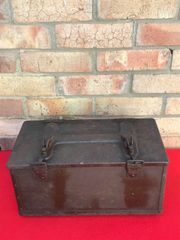 American metal carry box for the optics of large Artillery gun,nice condition,green paintwork found in Normandy 1944 battlefield