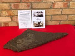 German Tiger 1 Tank rare large part of 26mm thick floor armoured plate with paintwork blown apart section recovered from the battlefield at Wolomin which was the largest Tank battle in Poland in 1944