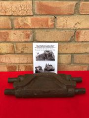 Track Link type 54-E1 Steel Chevron used by Sherman Tank recovered from near Coutances the American area in Normandy 1944 battlefield