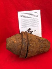 German Panzerfaust anti-tank war head recovered from the area where the German 30th infantry division fought near Tilti in the Kurland Pocket the battlefield of 1944-1945