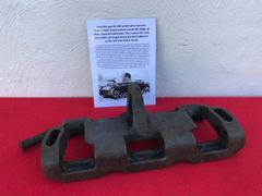 Track link open guide horn type 3A 1941 pattern with pin from German Panzer 3 Tank recovered from south of Prokhorovka ware the main tank battle at Kursk was on 12th July 1943