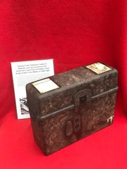 German Field telephone model 33 bakerlite case,nice condition relic,maker markings recovered from Ardennes Forest form battle of the Bulge 1944-1945