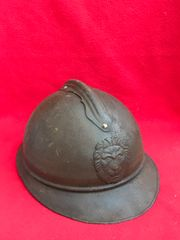 Belgium soldiers M15 Adrian helmet complete with leather liner,nice condition found in Ypres in Belgium