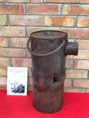 Large American cooking stove recovered from the Ardennes Forest around Bastogne from the battle of the bulge in the winter of 1944