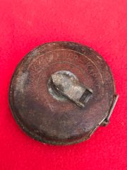 German pioneer soldiers leather covered tape measure recovered from the area where the German 30th infantry division fought near Tilti in the Kurland Pocket the battlefield of 1944-1945