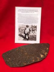 German soldiers Body armour complete bottom plate recovered from the area of the Schwaben Redoubt near Thiepval on the Somme battlefield of July 1916
