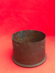 British 4.5 inch howitzer shell case dated 1916,primer dated 1917 in relic condition recovered in 2018 while British Tank was recovered from Pozieres on the 1916 Somme battlefield