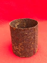 Russian RGD-33 stick grenade outer sleeve in relic condition recovered from the Seelow Heights 1945 battle of Berlin, Germany