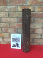 German steel made flak 88 shell case this is the shell case for the famous 8.8cm anti aircraft and anti tank gun recovered from the Normandy battlefield