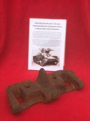 Track link from Russian T-26 tank nice solid relic recovered from the Demyansk Pocket in Russia 1941-1942 battlefield