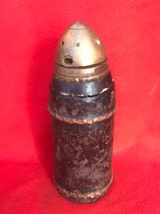 German Dopp Z complete shrapnel shell 9cm 1873 Kanone artillery gun,nice clean condition,dated 1918 found on the Somme battlefield 1916-1918