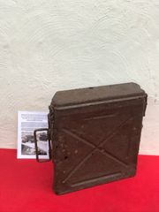 German 2.8cm schwere panzerbuchse 41 anti-tank gun ammunition box nice condition relic recovered from Death Valley near Hill 112 the battle in the Falaise Pocket on the Normandy battlefield of 1944