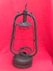 Oil Lamp French made recovered from old German dugout in Gommecourt area on the Somme battlefield 1916