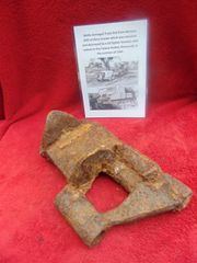 The remains of a Track link from German RSO artillery tractor found in Normandy