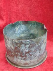 German 15cm schwere howitzer 13 cartridge case recovered from Flers on the Somme battlefield