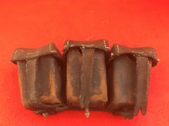 German soldiers G98 ammunition pouch dated 1915 nice solid condition recovered from under the floor of a barn in the village of Pys around 30 years ago on the Somme battlefield
