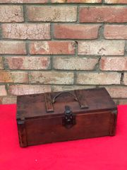 German carry crate for Gewehr Sprenggrante 30 anti personnel rifle grenades nice condition with paper label dated 1944 found in Normandy